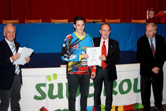Gabriel Ghirardini premiato alla Festa del Ciclismo Altoatesino 2014