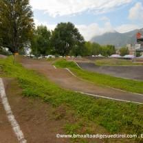 La pista Bmx Alto Adige Suedtirol: scorcio dopo la curva